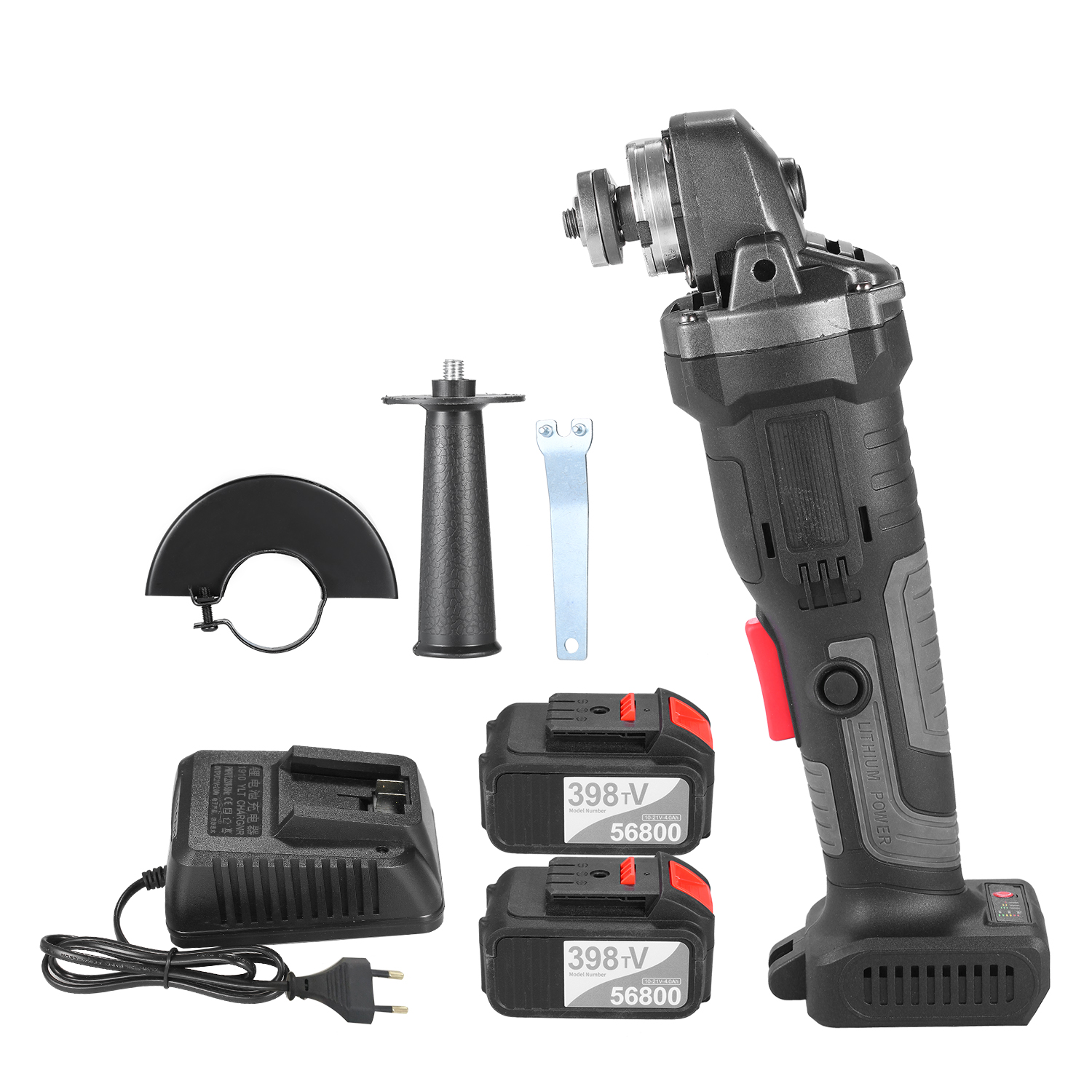 Portable Variable Speed 21V Electric Brushless Angle Grinder Tool Cordless Grinding Machine Metal Cutter With Side Handle
