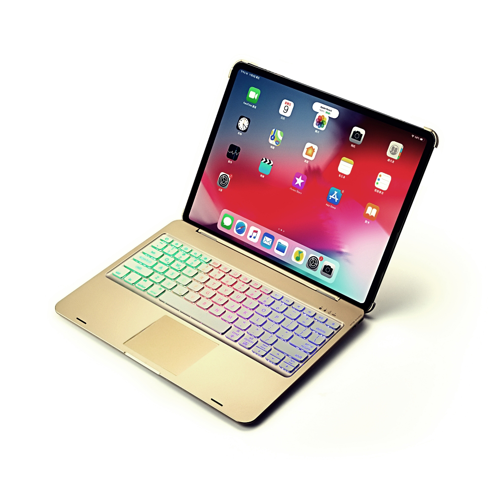 Wireless Smart Bluetooth Keyboard Case with Touchpad LED for iPad Pro 11 inch 2020 2nd Gen