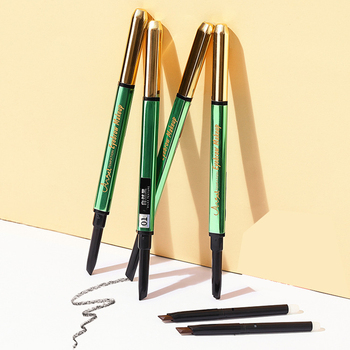 Automatic Eyebrow Pencil Waterproof Sweatproof No Smudging Triangular Pen Tip with Brush MH88 1