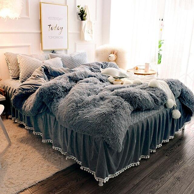 Warm Fluffy Blanket for Bed 3