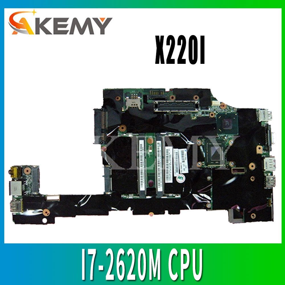 For Lenovo ThinkPad X220 X220I Laptop motherboard FRU: 04Y1830 04Y1832 04Y1831 04Y1833 <font><b>I7</b></font>-<font><b>2620M</b></font> CPU DDR3 image