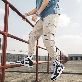 Streetwear Mens Hip Hop Jogging Pants Casual Men Trousers Big Size Loose Sweatpants Male 2020 New Multi Pocket Harem Pants 5XL 1
