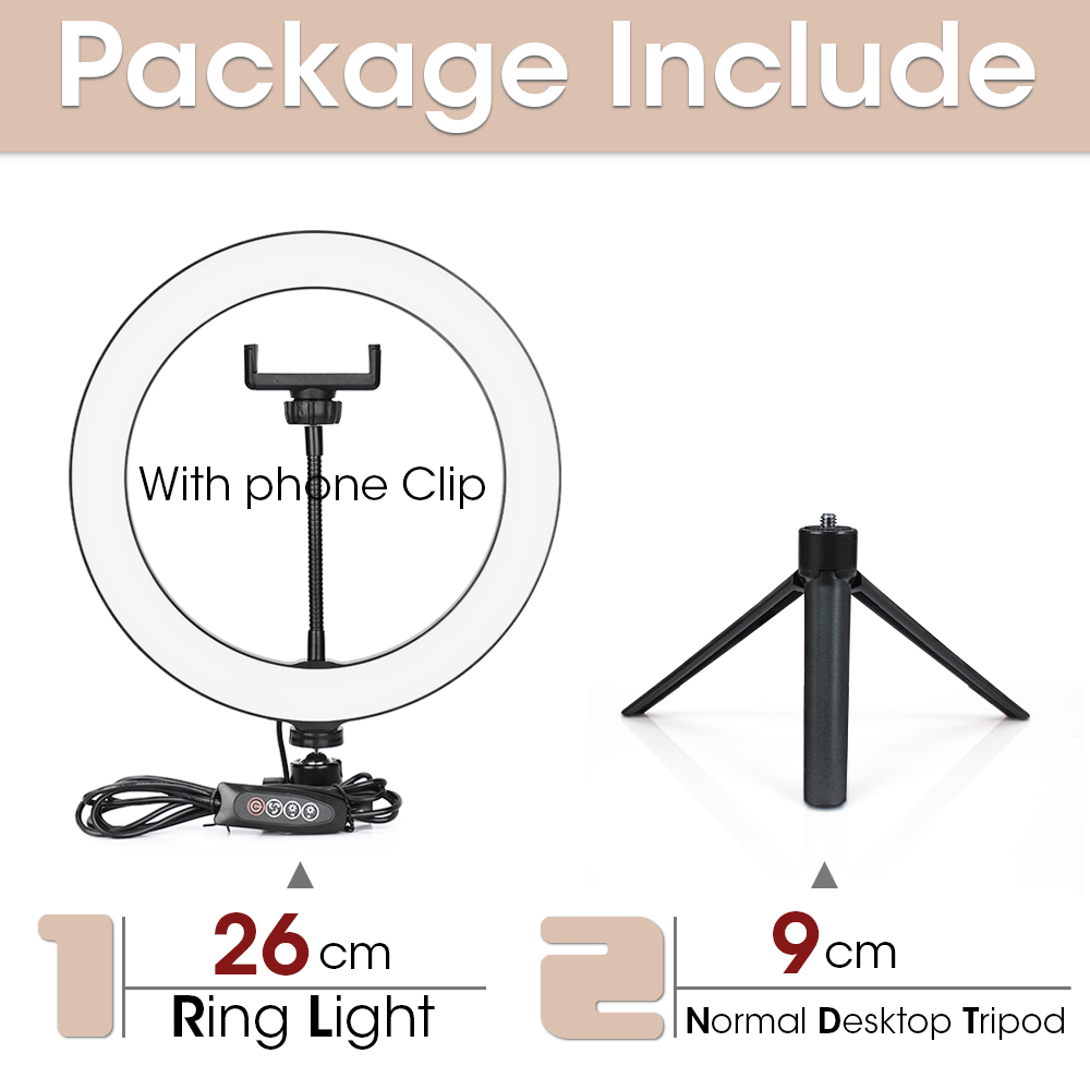 26cm and 9cmTripod