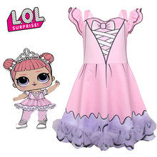 LOL Surprise Dolls Kids Dresses for Girls Clothes Cotton Dress Children's Princess Performance Costume Gifts