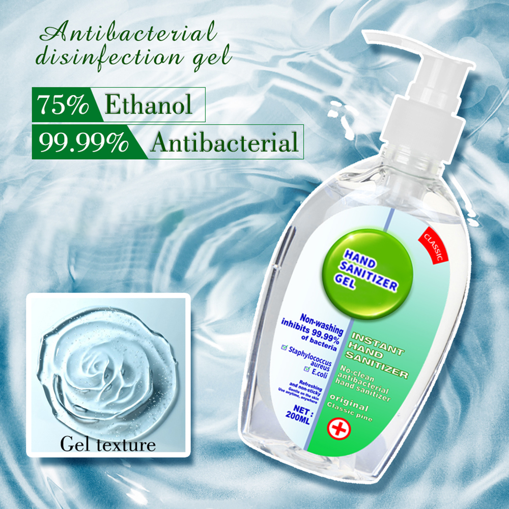 Anti Bacterial Hand Gel Quick Dry Hand Sanitizer Disinfection Gel 75% Ethanol Alcohol Handgel Sanitizers For Home Bathroom