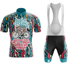 2019 SLOTH CYCLING TEAM NEW men #8217 s jerseys Quick Dry cycling sets short sleeve cycling Suit Road Bicycle clothes cycling Wear cheap max storm GEL Breathable Pad 100 Polyester Fits smaller than usual Please check this store s sizing info Factory Direct Sales
