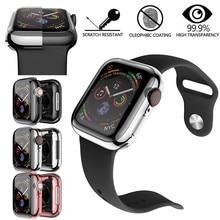 Металл корпус для Apple часы 44 мм протектор с экраном защитная пленка Iwatch 44 мм серия 5 4 3 2 1 HD прозрачный