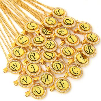 Bling smoczek dla niemowląt klip złoty dowolne inicjały list smoczki uchwyt na łańcuszek atrapy klipsów dla dzieci bezpieczne łańcuszki metalowe tanie i dobre opinie Metal+Rhinestones BP188 About 22 cm Baby Pacifier Chain