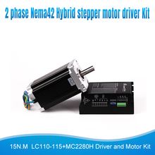 цена на 2ph Nema42 hybrid step stepper motor 115mm DSP Stepping driver Microstep  Kit 15N.M 6A LC110-115+MC2280H high torque cnc Kit