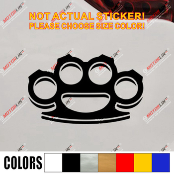 Brass knuckles Decal Sticker knucks knucklebusters Car Vinyl combat pick size color die cut no background image