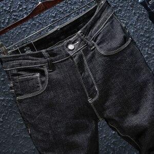 Image 5 - 2020 秋 Winterr 黒とブルージーンズ男性デニムズボン男性高品質スリムフィットジーンズブランドプラスサイズ 40 42 44 46