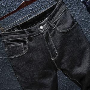 Image 5 - 2020 סתיו Winterr שחור וכחול ג ינס גברים ג ינס מכנסיים זכר באיכות גבוהה slim fit ז אן מותג בתוספת גודל 40 42 44 46