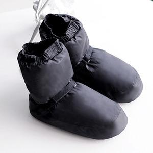 Image 4 - חורף בלט לאומי ריקוד נעלי מבוגרים מודרני ריקוד כותנה תרגילי חימום חם בלרינה מגפיים