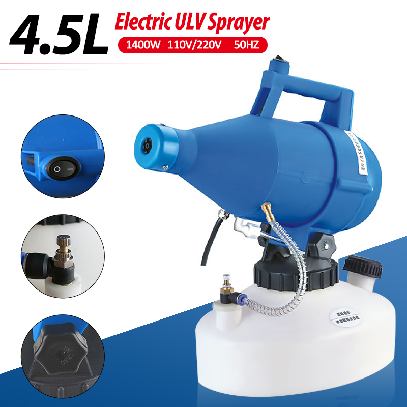 4.5L 110V/220V Electric ULV Fogger Sprayer Mosquito Fogging Machine Intelligent Ultra-Low Capacity Fogger Disinfection Machine