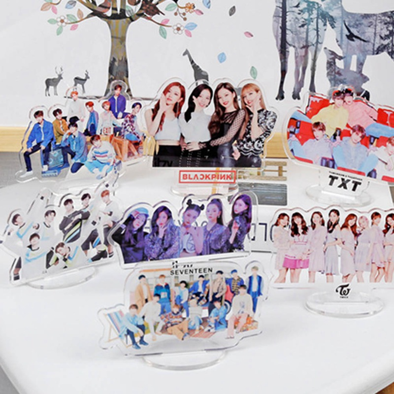 TXT STRAY KIDS BLACKPINK TWICE GOT7 Acrylic Stand Action Figure Seventeen Standing Action Table Decor