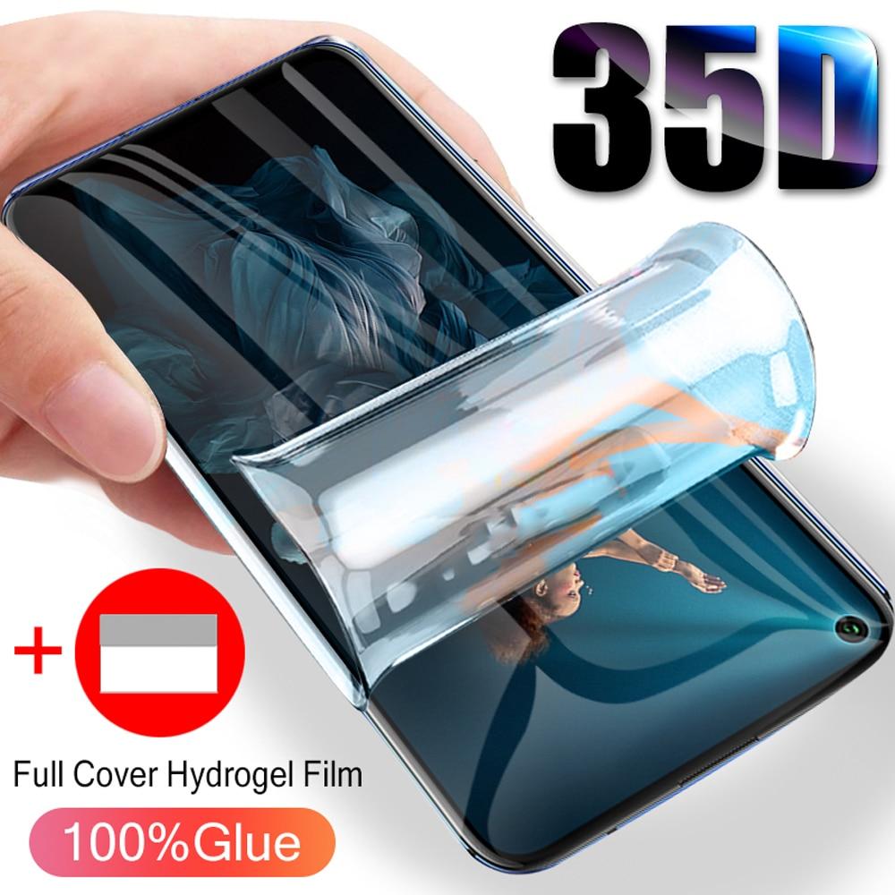 Dla huawei honor phone screen protector zobacz 30 pro 20 20i 20S lite v30 hydrożel film miękka pełna pokrywa nie szklana folia ochronna