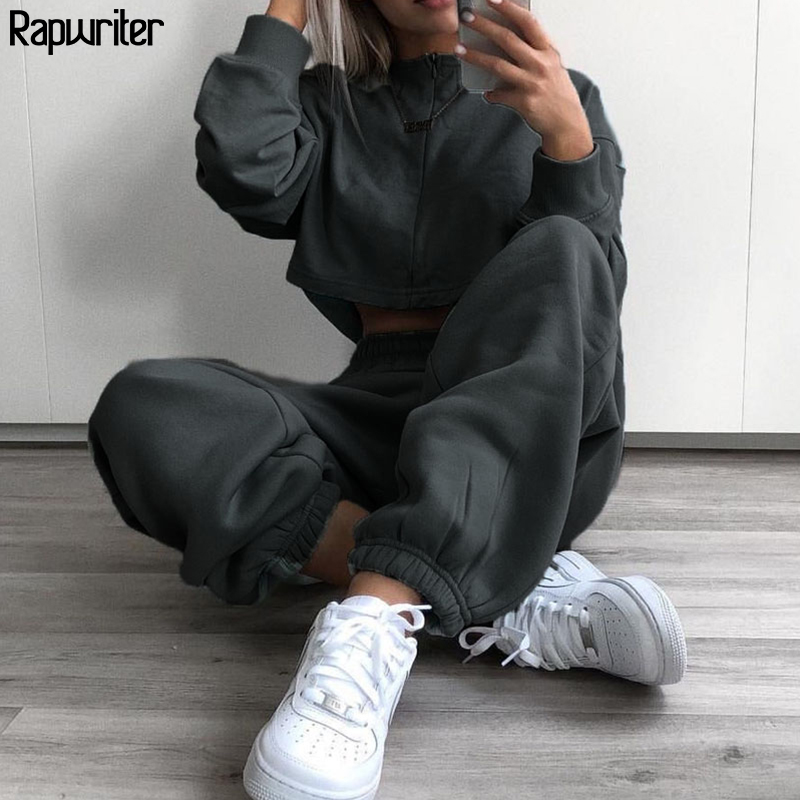 Rapwriter Casual 4 Colors Stretch High Waist Pant Women 2020 Spring Streetwear Solid Color Jogger Pencil Trousers Pocket Capris