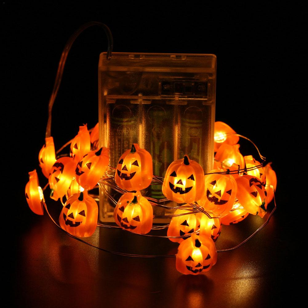 Halloween Pumpkin String Lights Remote Control Waterproof Light String Eight Function Halloween Party Wall Garden Terrace Decor