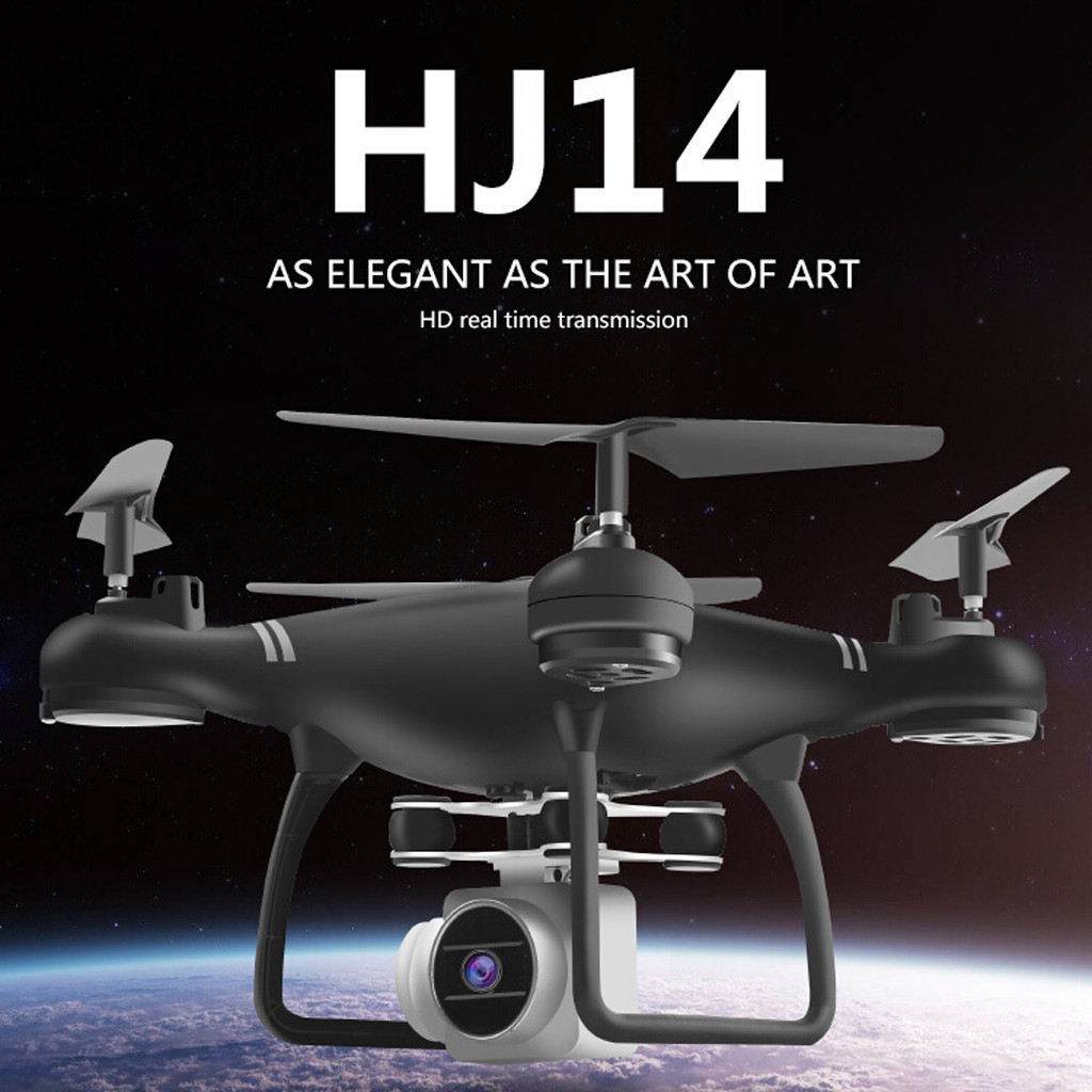 <font><b>HJ14W</b></font> Drone 2.0MP Camera FPV Wifi 2.4G Remote Control Helicopter Headless Model Selfie Drone RC Quadcopter with HD Camera image