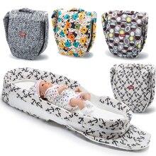 Складная детская кроватка Младенческая дорожная кровать для младенцев Дети многофункциональная сумка для мам