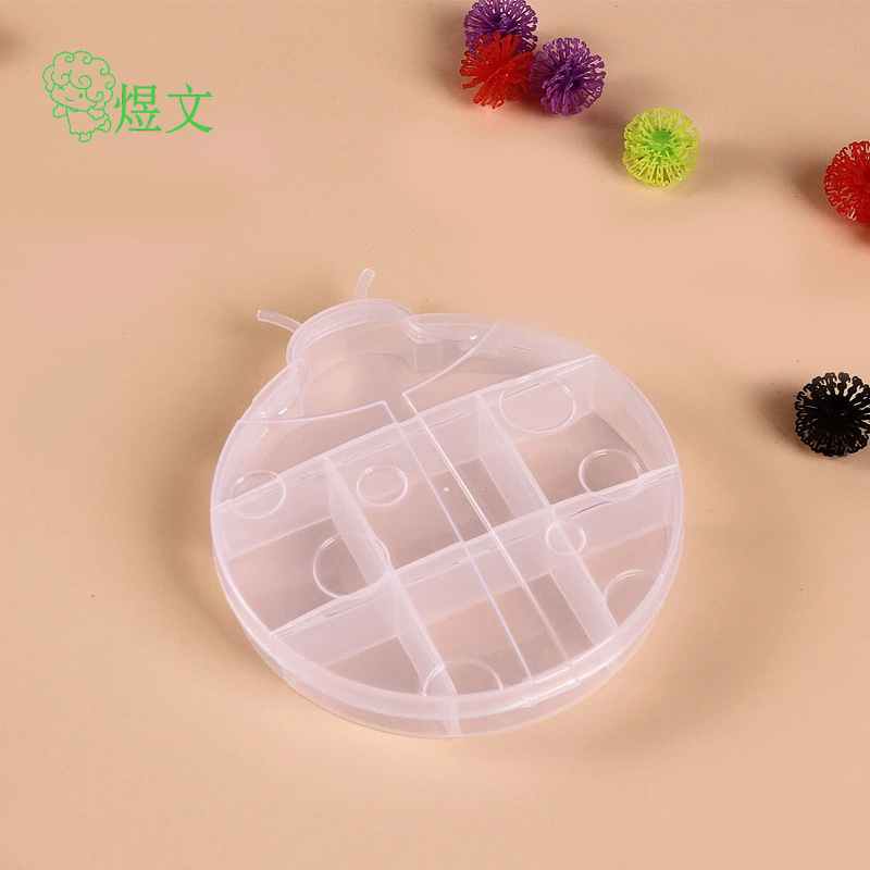 Animal appearance ladybug environmental protection storage box Rainbow circle card finishing