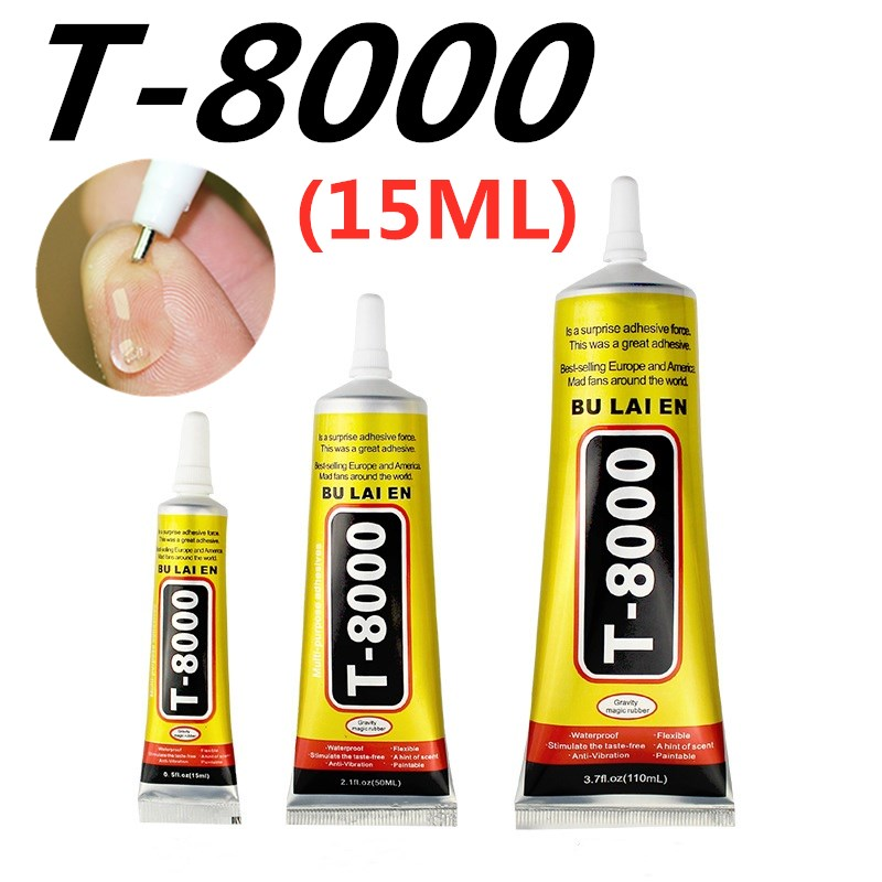 T-8000 15ML MultiPurpose Industrial Adhesive Jewerly Craft Rhinestone And Nail Gel T8000 Diy Phone Frame Fix Screen Glass Glue