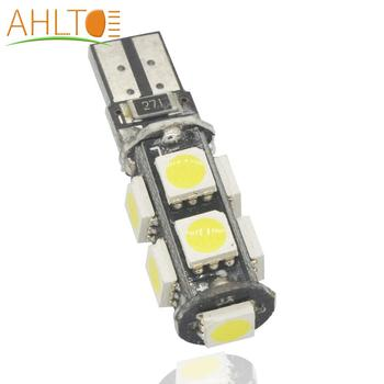 цена на T10 5050 9smd Car Led CANBUS W5W 194 DC 12V Error Free White Tail Lights Dashboard Light Interior Bulbs Wedge Corner Lamp