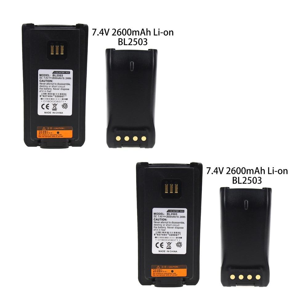 2X BL2503/BL2006 Battery For HYT/HYTERA PD702V PD706G PD706U PD782G PD782U