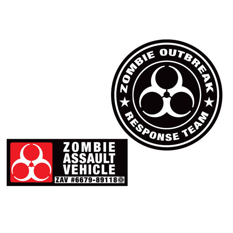 Mini Cooper decal Zombie Outbreak Response Unit Custom vinyl sticker
