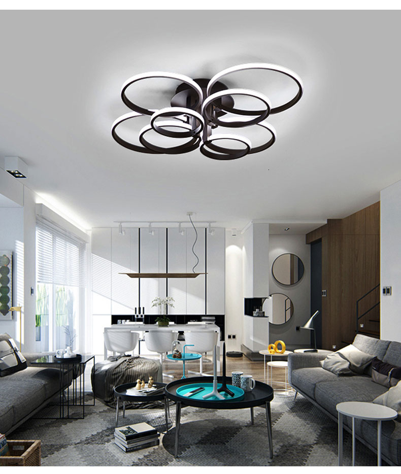 Hd7ad0c14ff034dde85b88d231b2b4b6cc Square Circel Rings Ceiling Lights For Living Room Bedroom Home Modern Led Ceiling Lamp Fixtures lustre plafonnier dropshipping
