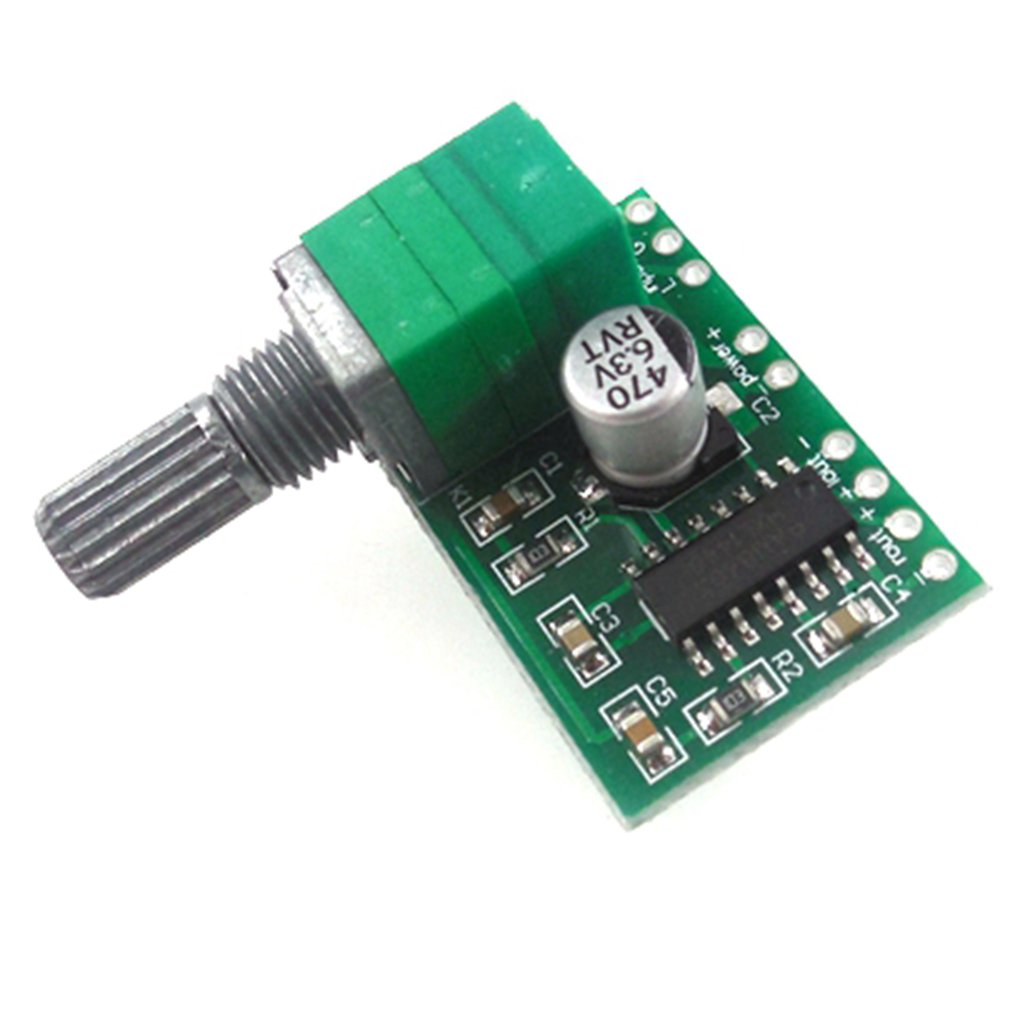 Digital Audio Amplifier Board Dual Channel DC 5V PAM8403 3Wx2 With USB Power Stereo Volume Control Potentiometer Switch