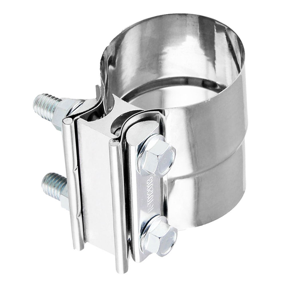 """2.0/"""" Lap Joint Exhaust Band Clamp-Preformed Stainless Steel For Catback Muffler"""