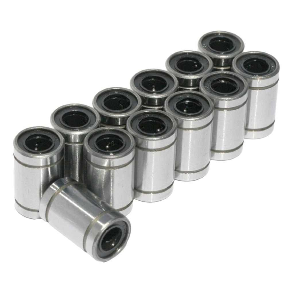 12 ชิ้น/ล็อต LM8UU Linear Bushing 8 มม.Linear Ball Bearing 3D ชิ้นส่วนเครื่องพิมพ์ LM8 CNC ชิ้นส่วนเพลา Ball Bushings
