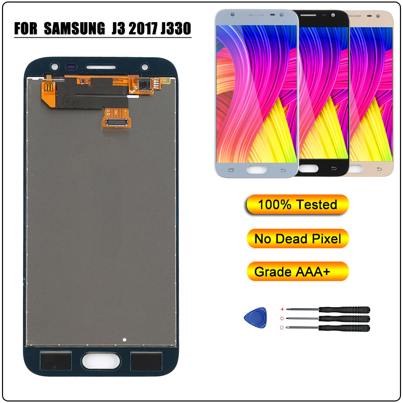 for <font><b>Samsung</b></font> J330 LCD Display Touch Screen Digitizer Assembly for <font><b>Samsung</b></font> Galaxy J3 2017 J330F <font><b>J330FN</b></font> J330G LCD for J3 Pro 2017 A image