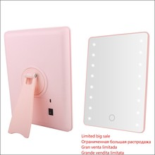 Cosmetic Mirror With Touch Dimmer Switch Operated Stand for Tabletop Bathroom Travel Makeup
