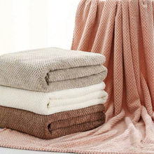 New 70X140CM Bath Towels For Adults High Quality Thicken Soft Shower Swimming Spa Sport Travel Towels Microfiber Large Towel Set cheap sinsnan CN(Origin) Plain Knitted Rectangle about 90g 320g 1013towel set Compressed Quick-Dry Machine Washable 15s-20s Plaid