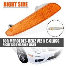 Желтый боковой габаритный фсветильник рь, лампа указателя поворота бампера для Mercedes Benz W211 E-Class E320 E350 E500 2003 2004 2005 2006 2118200121