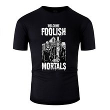 Graphic American Skull Gothic Foolish Mortal Giftidea Tshirt Cotton Round Collar T Shirt Clothing Size Xxxl 4xl 5xl Hip Hop(China)