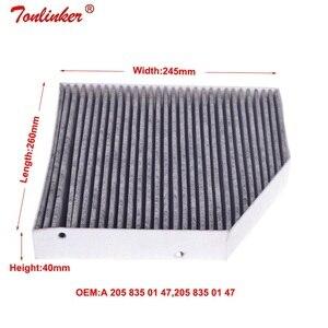 Image 5 - Filtr powietrza kabinowego dla MERCEDES BENZ C CLASS W205 A205 C205 S205 C160 C180 C200 C220 C250 C300 C350 C400 C450 C63 Model 2014 2019
