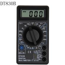 DT830B цифровой мультиметр AC/DC ЖК-цифровой мультиметр 750/1000 в Вольтметр Амперметр Ом тестер Высокая безопасность ручной измеритель