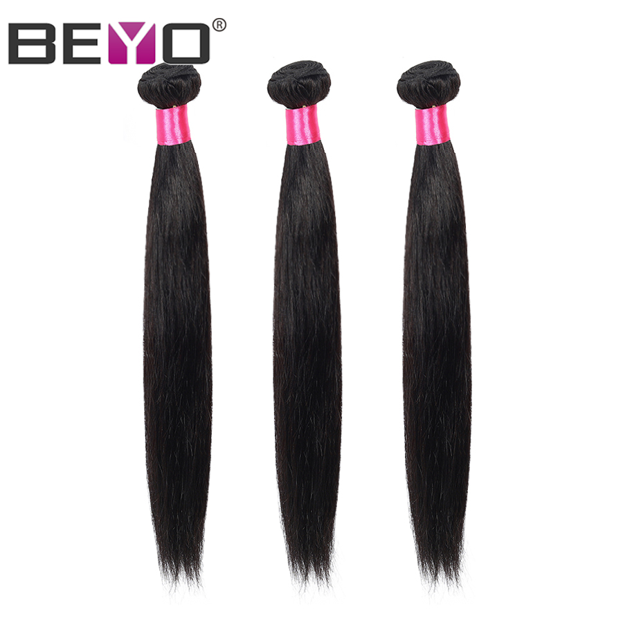 Beyo Peruvian Straight Hair Bundles 8- 28 Inch 1/ 3 / 4 Pcs 100% Human Hair Bundles Natural Color Non-Remy Hair Extension