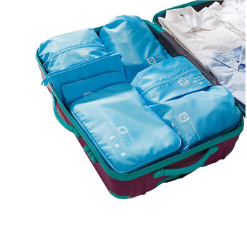 7 pcs/set Portable Travel Packing Cubes Men and Women's Polyester Packing Organizers