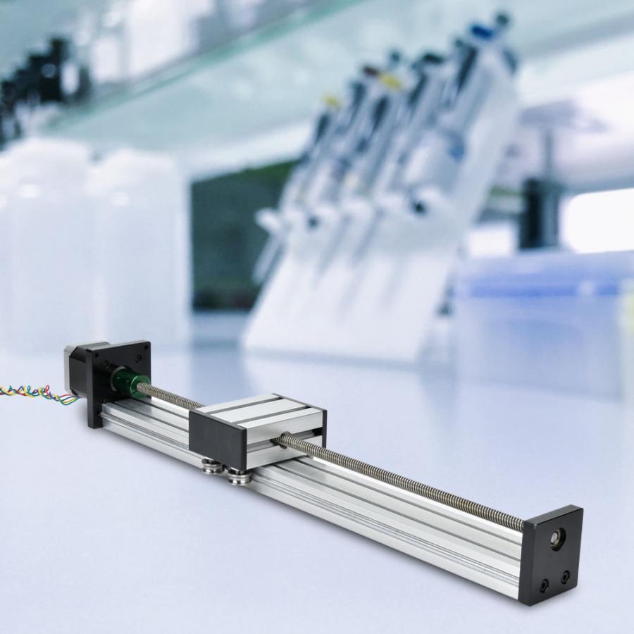 100mm/200mm/300mm alliage d'aluminium 0808 vis à billes simple arbre trapézoïdal linéaire glissière Rail avec 57 moteur
