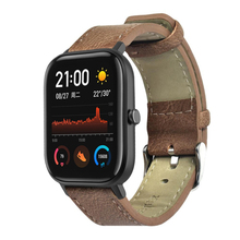 Leather Watchband Wrist Replacement Strap for Huami Amazfit GTS Smart Watch Table rope LB88
