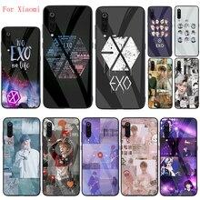 Чехол EXO band k-pop из закаленного стекла для Xiaomi 6 8 9 SE 8 9 9T 10 Pro A1 A2 5X 6X CC9 Pro F1 Xiaomi Note 10 Pro