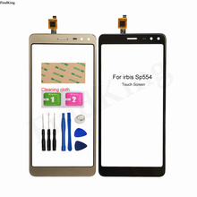 5.5'' Phone Touch Screen For Irbis SP554 Touch Screen Digitizer Panel Front Glass Lens Sensor Replacement Part 3M Glue Wipes