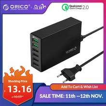 ORICO QC 2.0 Bộ Sạc 4 Cổng 5V2.4A 50W Đầu Ra Tối Đa Điện Thoại Di Động USB Sạc cho Samsung Xiaomi huawei
