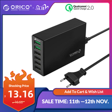 Orico qc 2.0 carregador rápido com 4 portas 5v2.4a 50w saída máxima do telefone móvel carregador usb para samsung xiaomi huawei