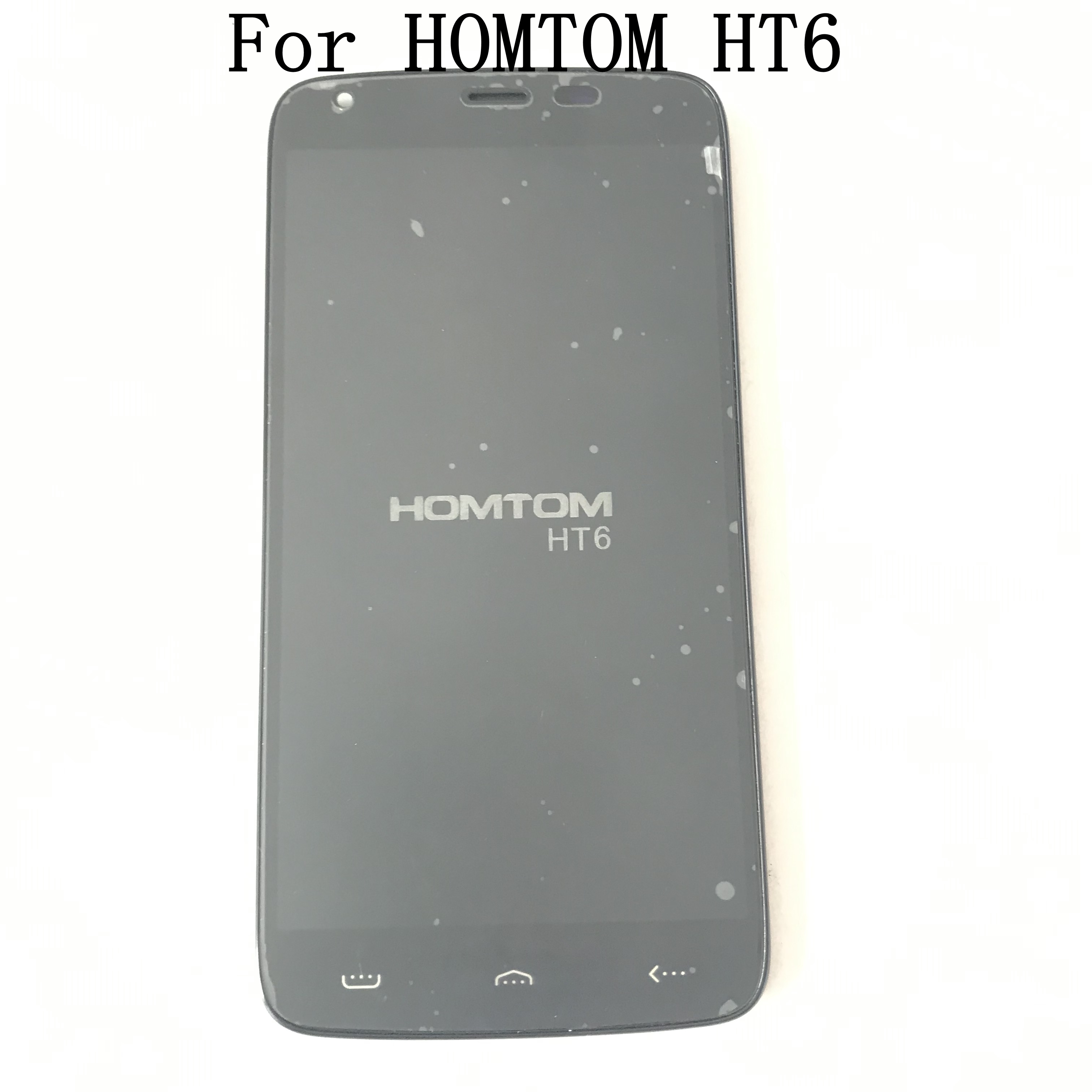 <font><b>HOMTOM</b></font> <font><b>HT6</b></font> Used LCD Display +Digitizer Touch <font><b>Screen</b></font>+ Frame For <font><b>HOMTOM</b></font> <font><b>HT6</b></font> Repair Fixing Part Replacement image