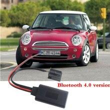Carro 12-pino bluetooth conector cabo aux módulo 12v para bmw mini um d cooper s r50 r53 jc funciona adaptador bluetooth